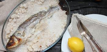 Fisch Salzkruste